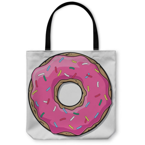 Cartoon Donut Tote Bag- Free Shipping