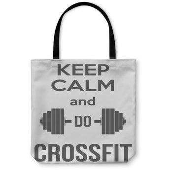 Keep Calm And Do Crossfit Tote Bag- Free Shipping