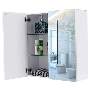 Modern 24-inch Wall Mounted Bathroom Medicine Cabinet with Mirror