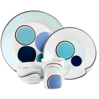 Halsa Portion Control Dinnerware 4 Piece, Single Place Setting by Livliga