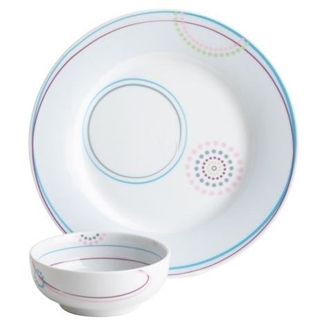 Just Right Set™ (bariatric) with Bowl and Plate in Aveq pattern by Livliga