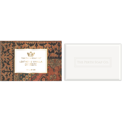 The Perth Soap Co Leather & Vanilla Cleansing Bar