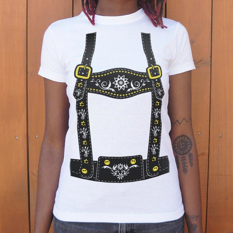 Lederhosen  T-Shirt Ladies- Free Shipping