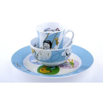 Sammie & Sax Blue 3 Piece, Single Place Setting by Livliga