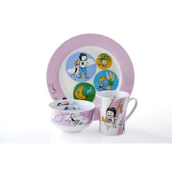 Sammie & Sax Pink 3 Piece, Single Place Setting & Award Winning Children's Book by Livliga