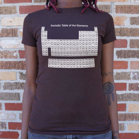Periodic Table T-Shirt Ladies- Free Shipping