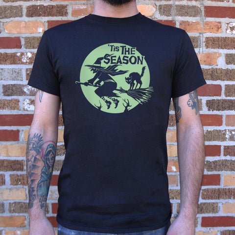 'Tis The Season Witch Halloween T-Shirt Mens- Free Shipping