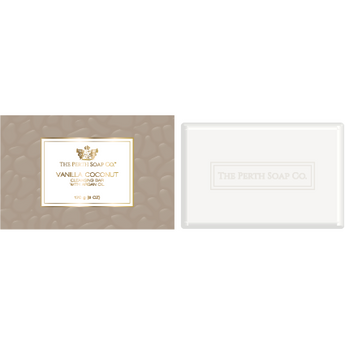 The Perth Soap Company Vanilla Coconut Cleansing Bar