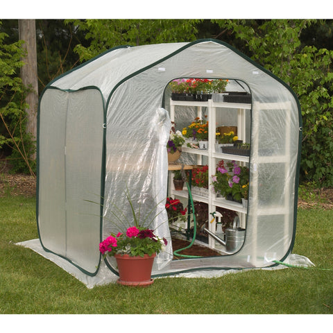 Spring Gardener Flower-House Lightweight Greenhouse (6' x 6')