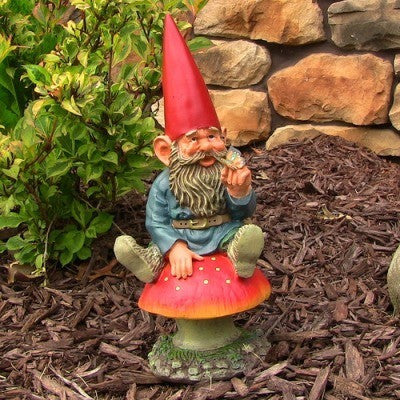 "Adam with Butterfly Gnome, 14"" Tall by Sunnydaze Decor"