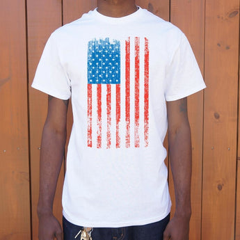 Distressed American Flag T-Shirt Mens- Free Shipping