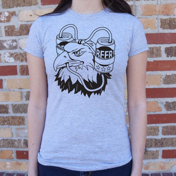 Beer Eagle T-Shirt Ladies- Free Shipping