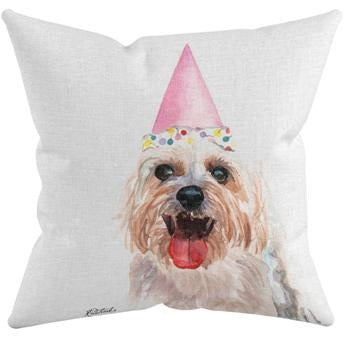 BIRTHDAY! THROW PILLOW by Redstreake Creative Living