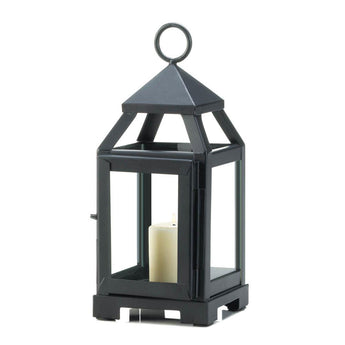 BLACK MINI CONTEMPORARY LANTERN