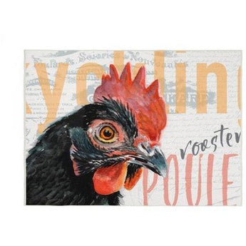 BLACK ROOSTER KITCHEN RUG by Redstreake Creative Living