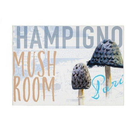 BLUE MUSHROOM KITCHEN RUG by Redtsreake Creative Living