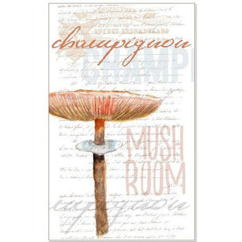 BROWN MUSHROOM TEA TOWEL by Redstreake Creative Living