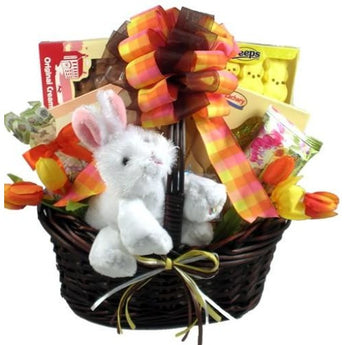 Bunny Business Gift Basket For Easter- Free Shipping