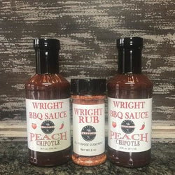 Two Wright Company BBQ Sauce And 6oz Rub