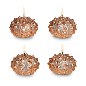 Copper Sea Urchin Candle Set of 4 Unscented
