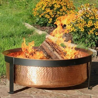 Sunnydaze Hammered Copper Fire Pit- Free Shipping