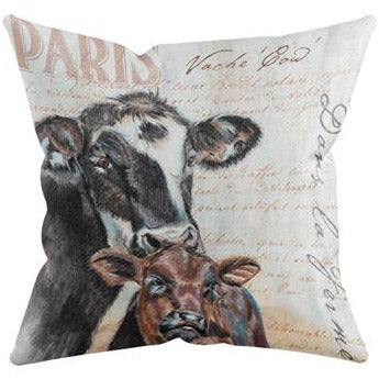 CALF & COW THROW PILLOW by Redstreake Creative Living
