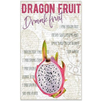 DRAGON FRUIT TEA TOWEL by Redstreake Creative Living