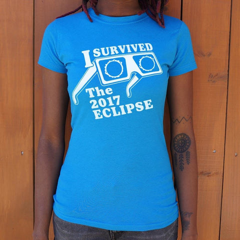 I Survived The Eclipse 2017 T-Shirt Ladies- Free Shipping