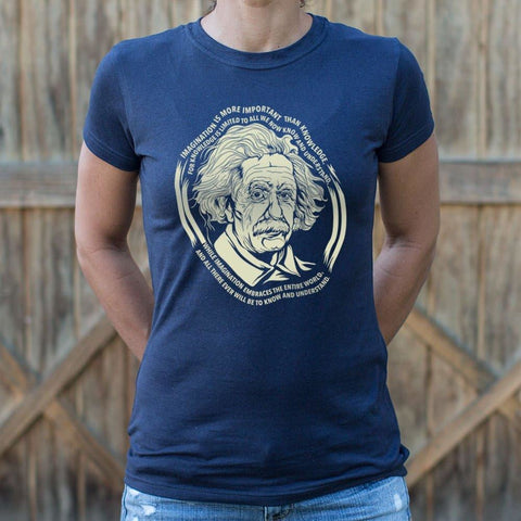 Einstein's Imagination T-Shirt Ladies- Free Shipping
