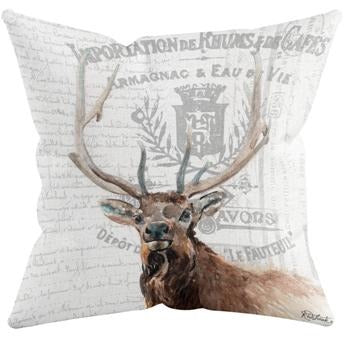 ELK THROW PILLOW by Redstreake Creative Living
