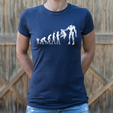 Evolution To Termination Technology T-Shirt Ladies- Free Shipping