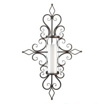 FLOURISHED CANDLE WALL SCONCE