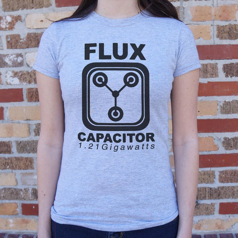 Flux Capacitor 1.21 Gigawatts T-Shirt Ladies- Free Shipping