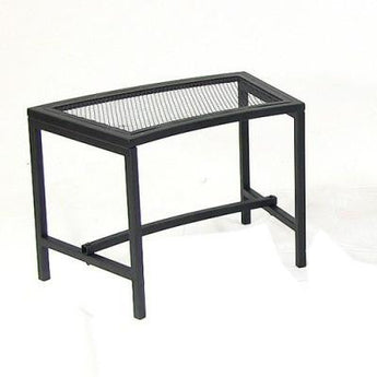 Black Mesh Patio Fire Pit Benches
