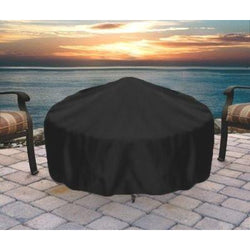 Round Black Fire Pit Cover