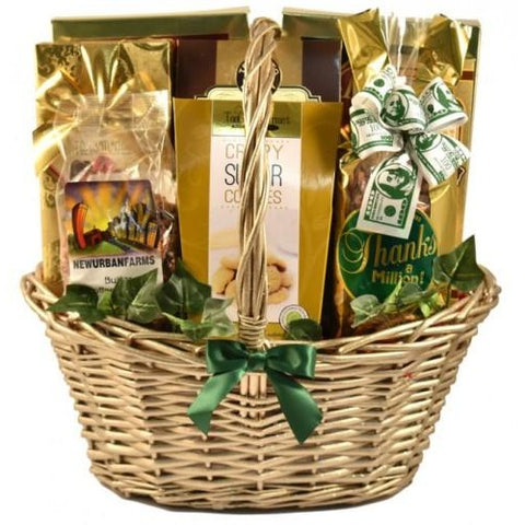 Good As Gold  Thank You Gift Basket- Free Shipping