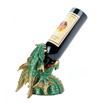 GREEN DRAGON DRINKING WINE HOLDER