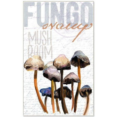 MUSHROOM GROUP TEA TOWEL by Redstreake Creative Living
