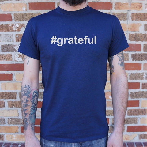 Mens Hashtag Grateful T-Shirt