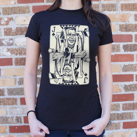 Jack Of Torrance Card T-Shirt Ladies- Free Shipping