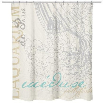 JELLYFISH SHOWER CURTAIN by Redstreake Creative Living