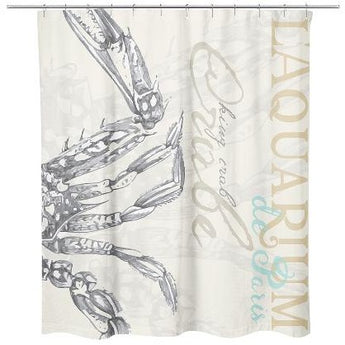 KING CRAB SHOWER CURTAIN by Redstreake Creative Living