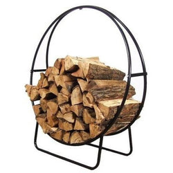 Sunnydaze 24-Inch Tubular Steel Firewood Log Hoop & Cover Combo- Free Shipping