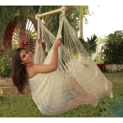 Sunnydaze Extra Large Mayan Chair Hammock w/ Wood Bar- Multiple Colors & Free Shipping