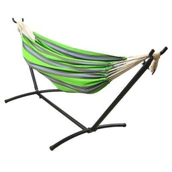 Sunnydaze Premium 100 % Cotton Double Brazilian Hammock & Stand- Multiple Colors & Free Shipping