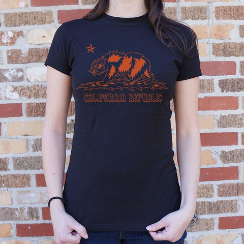 Metal California T-Shirt Ladies- Free Shipping