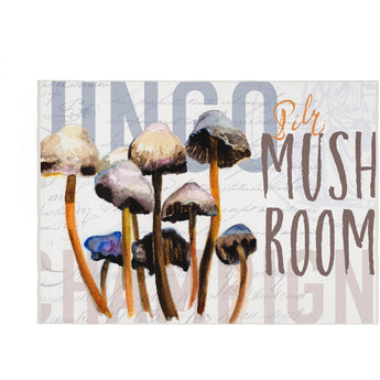 MUSHROOM GROUPING KITCHEN RUG by Redstreake Creative Living