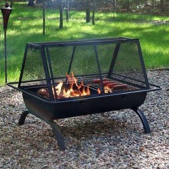 Sunnydaze Northland Grill Fire Pit- Free Shipping