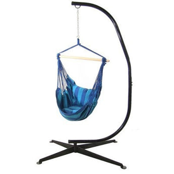 Hanging Hammock Swing and C-Stand Combo by Sunnydaze Décor- Multiple Colors & Free Shipping
