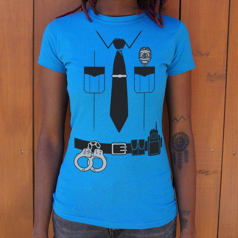 Officer Friendly T-Shirt Ladies- Free Shipping